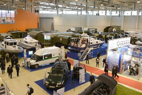 State security tools expo at VDNKH