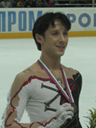 GIFT FROM AMERICAN FIGURE SKATER FOR RUSSIAN CHILDREN American figure skater Johnny Weir, ...