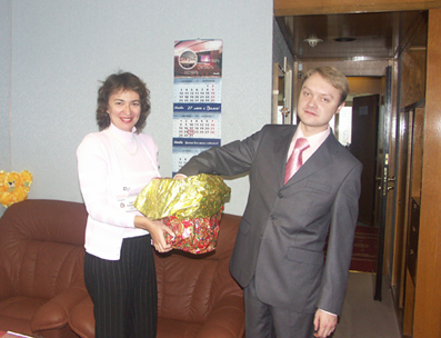 PRIZE DRAWING BY COSMOS HOTEL!!! On the 24-th October there was prize drawing hold by Cosm...