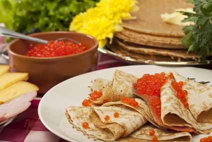 "Maslenitsa comes brining pancakes and honey! A Pancake week in the restaurants ""Terrace"" and ""Kalinka"" of Cosmos hotel"